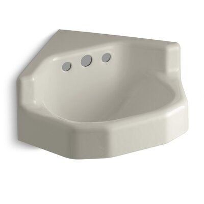 Marston 23 Corner Bathroom Sink with Overflow Sink Finish: Sandbar