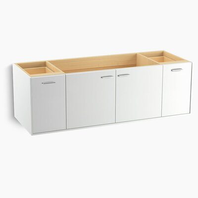 Jute� 60 Vanity with 2 Doors and 2 Drawers, Split Top Drawer Finish: Linen White