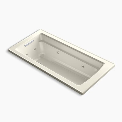 Archer Drop-in Whirlpool with Reversible Drain and Heater Finish: Biscuit