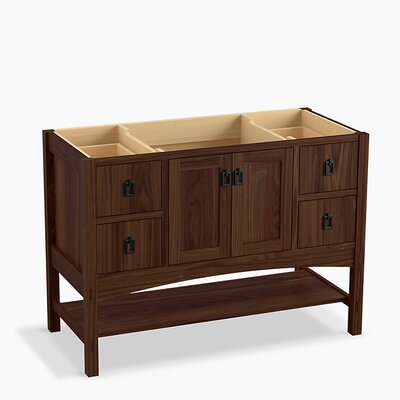Marabou 48 Vanity with 2 Doors and 4 Drawers Finish: Terry Walnut