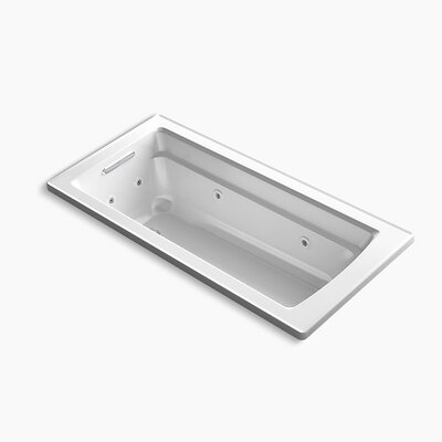 Archer Drop-in Whirlpool with Reversible Drain and Heater Finish: White