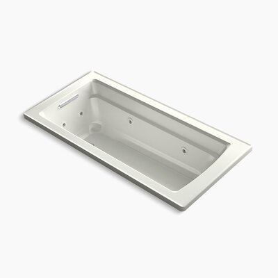 Archer Drop-in Whirlpool with Reversible Drain and Heater Finish: Dune