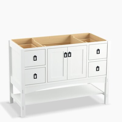 Marabou 48 Vanity with 2 Doors and 4 Drawers, Split Top Drawers Finish: Linen White