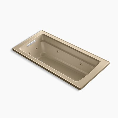 Archer Drop-in Whirlpool with Reversible Drain and Heater Finish: Mexican Sand