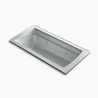 Archer Drop-in Whirlpool with Reversible Drain and Heater Finish: Ice Grey