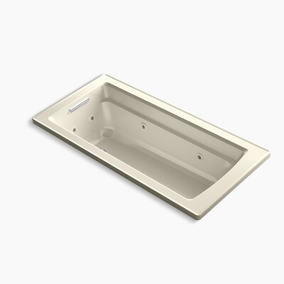 Archer Drop-in Whirlpool with Reversible Drain and Heater Finish: Sandbar