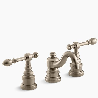 Iv Georges Brass Widespread Bathroom Sink Faucet with Lever Handles Finish: Vibrant Brushed Bronze