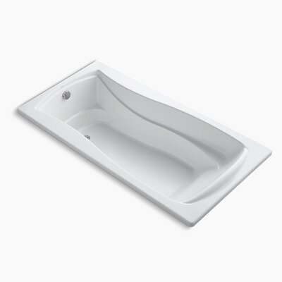 Mariposa 72 x 36 Soaking Bathtub Finish: White