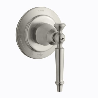 Antique Volume Control Valve Trim with Lever Handle, Valve Not Included Finish: Vibrant Brushed Nickel