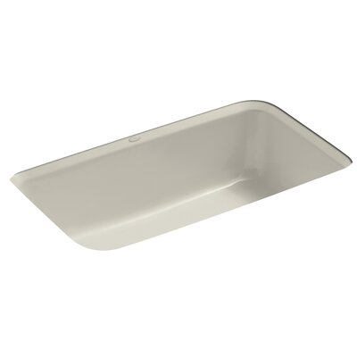 Bakersfield 31 x 22 x 8-5/8 Under-Mount Single-Bowl Kitchen Sink with 5 Faucet Holes Finish: Sandbar