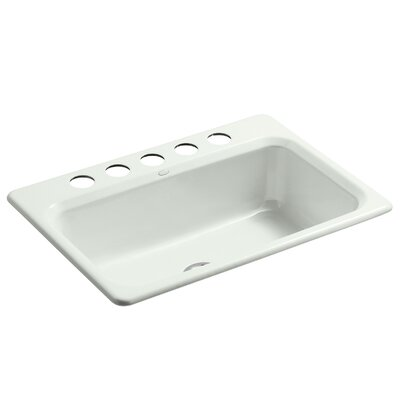 Bakersfield 31 x 22 x 8-5/8 Under-Mount Single-Bowl Kitchen Sink with 5 Faucet Holes Finish: Sea Salt
