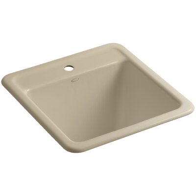 Park Falls Top-Mount/Undermount Utility Sink with Single Faucet Hole Finish: Mexican Sand