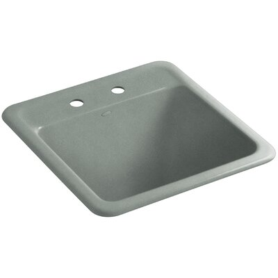 Park Falls Top-Mount/Undermount Utility Sink with Two Faucet Holes Finish: Basalt