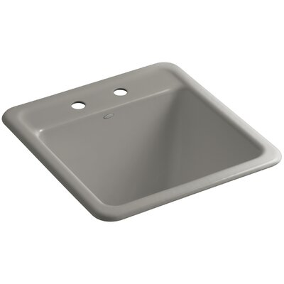 Park Falls Top-Mount/Undermount Utility Sink with Two Faucet Holes Finish: Cashmere