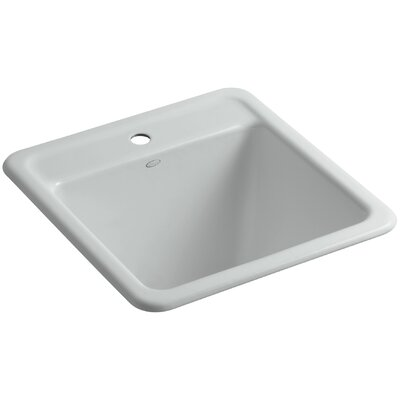 Park Falls Top-Mount/Undermount Utility Sink with Single Faucet Hole Finish: Ice Grey