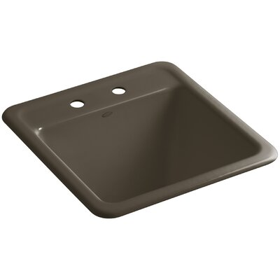 Park Falls Top-Mount/Undermount Utility Sink with Two Faucet Holes Finish: Suede