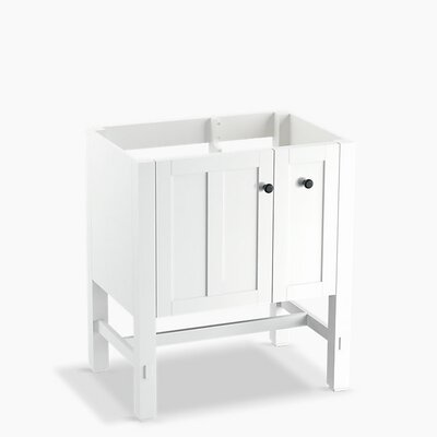 Tresham 30 Bathroom Vanity Base Base Finish: Linen White