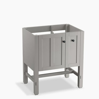 Tresham 30 Bathroom Vanity Base Base Finish: Mohair Gray