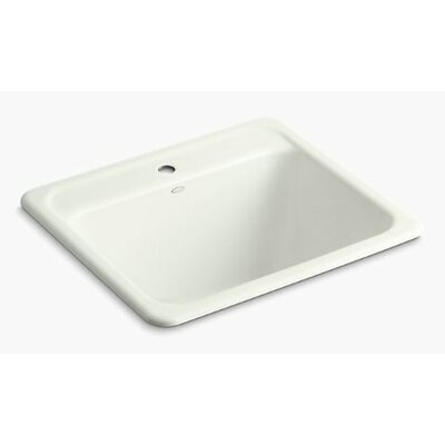 Glen Falls Top-Mount/Undermount Utility Sink with Single Faucet Hole Finish: Dune