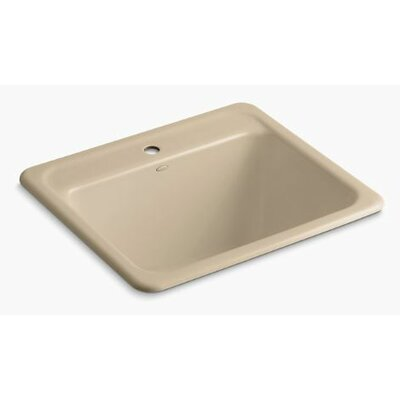 Glen Falls Top-Mount/Undermount Utility Sink with Single Faucet Hole Finish: Mexican Sand