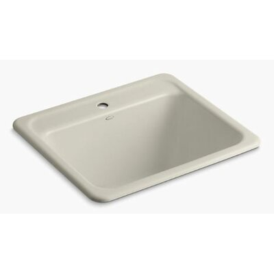 Glen Falls Top-Mount/Undermount Utility Sink with Single Faucet Hole Finish: Sandbar
