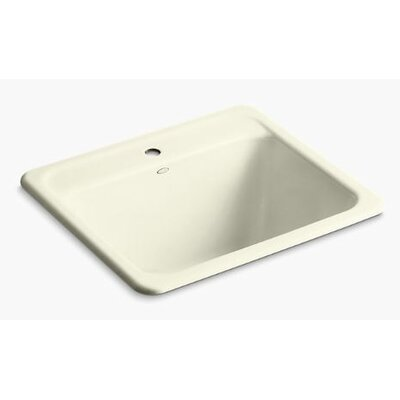 Glen Falls Top-Mount/Undermount Utility Sink with Single Faucet Hole Finish: Cane Sugar