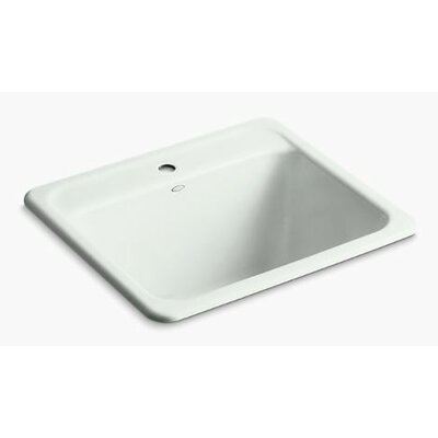 Glen Falls Top-Mount/Undermount Utility Sink with Single Faucet Hole Finish: Sea Salt
