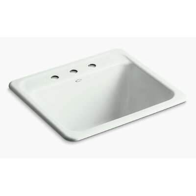 Glen Falls Top-Mount/Undermount Utility Sink with Three Faucet Holes Finish: Sea Salt