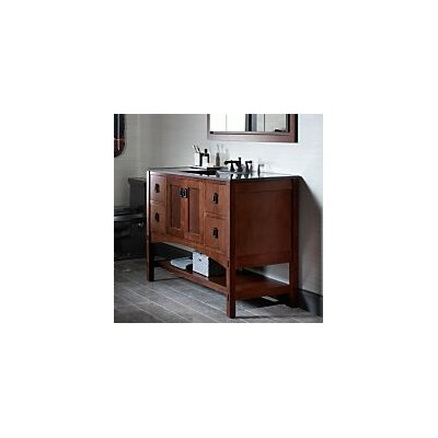 "Marabou 48"" Vanity Base with 2 Doors and 4 Drawers Finish: Claret Suede"