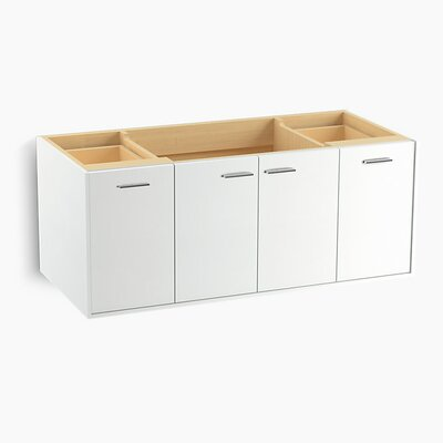 Jute� 48 Vanity with 2 Doors and 2 Drawers Base Finish: Linen White