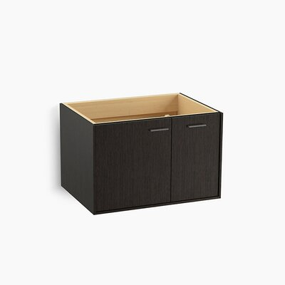 Jute� 30 Vanity with 1 Door and 1 Drawer on Right Base Finish: Satin Oak