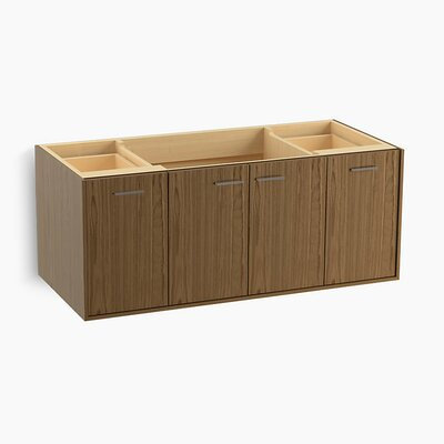 Jute� 48 Vanity with 2 Doors and 2 Drawers Base Finish: Walnut Flax
