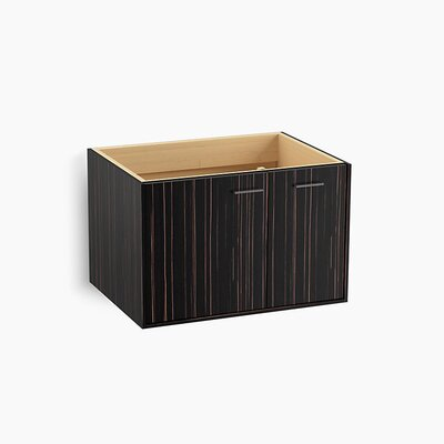 Jute� 30 Vanity with 1 Door and 1 Drawer on Right Base Finish: Ebony Velour