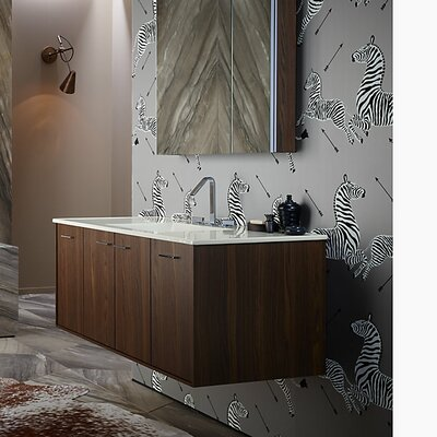 Jute� 48 Vanity with 2 Doors and 2 Drawers Base Finish: Laurentii Silk