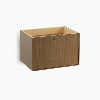 Jute� 30 Vanity with 1 Door and 1 Drawer on Right Base Finish: Walnut Flax
