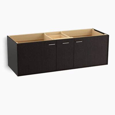 Jute Tones 60 Vanity with 2 Doors and 1 Drawer Base Finish: Satin Oak