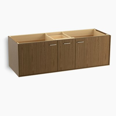 Jute Tones 60 Vanity with 2 Doors and 1 Drawer Base Finish: Walnut Flax