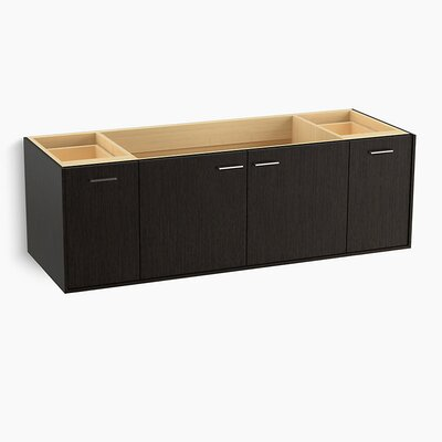 Jute� 60 Vanity with 2 Doors and 2 Drawers, Split Top Drawer Finish: Satin Oak