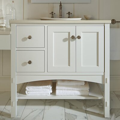 Marabou� 36 Vanity with 2 Doors and 2 Drawers on Right Finish: Linen White