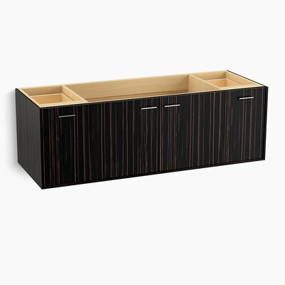 Jute 60 Vanity with 2 Doors and 2 Drawers Finish: Ebony Velour