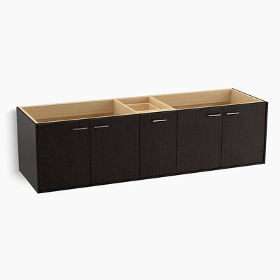 "Jute 72"" Vanity Base with 4 Doors and 1 Split Drawer Finish: Satin Oak"