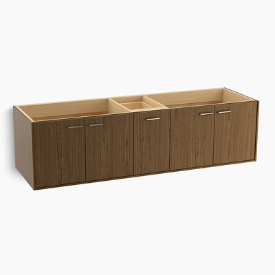 Jute� 72 Vanity with 4 Doors and 1 Split Drawer Finish: Walnut Flax