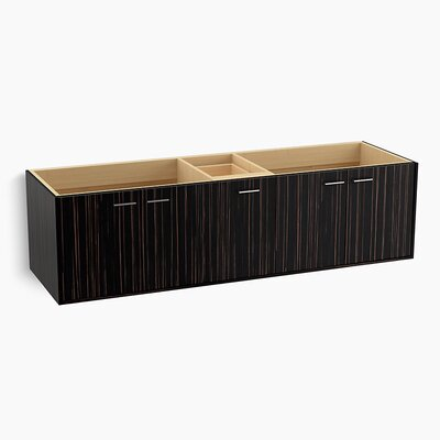 Jute� 72 Vanity with 4 Doors and 1 Split Drawer Finish: Ebony Velour
