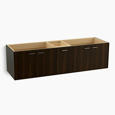 Jute� 72 Vanity with 4 Doors and 1 Split Drawer Finish: Jersey Oak