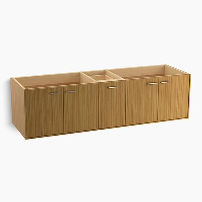 Jute� 72 Vanity with 4 Doors and 1 Split Drawer Finish: Corduroy Teak