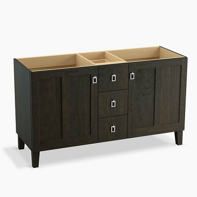 Poplin� 60 Vanity with Furniture Legs, 2 Doors and 3 Drawers Base Finish: Felt Gray