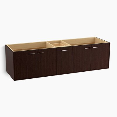 "Jute 72"" Vanity Base with 4 Doors and 1 Split Drawer Finish: Laurentii Silk"
