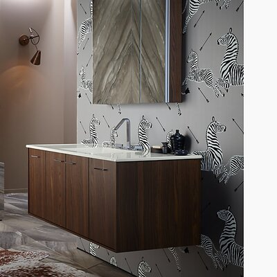 Jute 48 Vanity with 2 Doors and 2 Drawers, Split Top Drawer Finish: Laurentii Silk