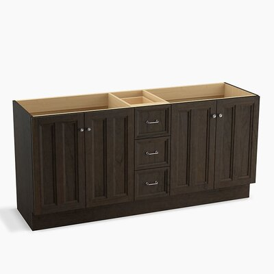 Damask� 72 Vanity with Toe Kick, 4 Doors and 3 Drawers, Split Top Drawer Finish: Felt Grey