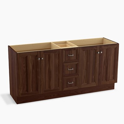 Damask� 72 Vanity with Toe Kick, 4 Doors and 3 Drawers, Split Top Drawer Finish: Terry Walnut